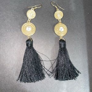Black and Gold (flamenco style) earrings